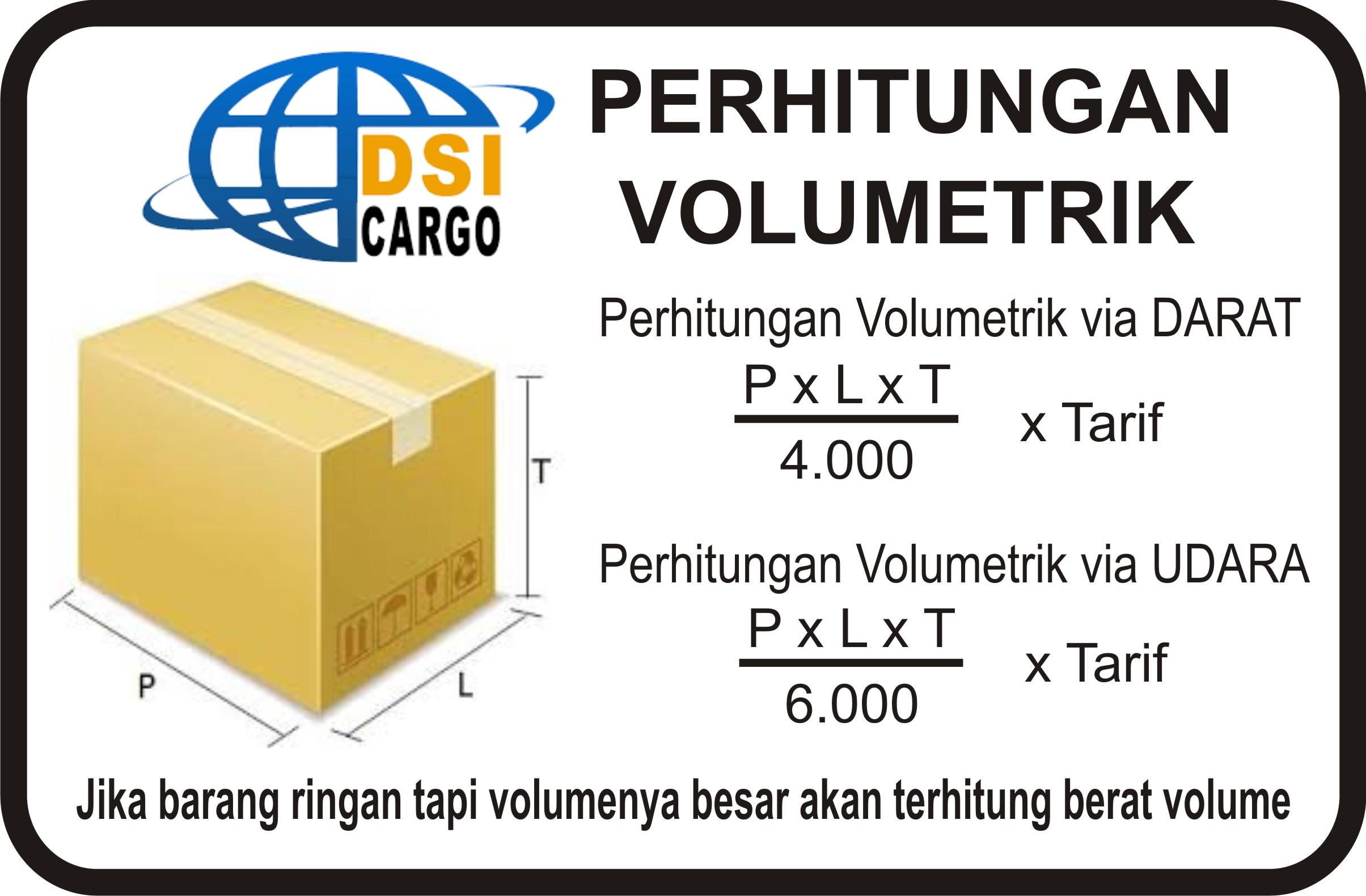 Perhitungan Volumetrik Duta Sarana Indocargo Dsi Cargo Ongkos Kirim Ekspedisi